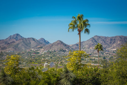 Neighborhoods at the base of tall mountains are rapidly growing in the Phoenix, Arizona area where population is steadily growing. Housing in these mountain base developments are usually more expensiv