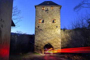 Johannistor in Bad Münstereifel am Abend