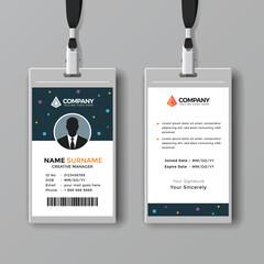 Professional ID card design template