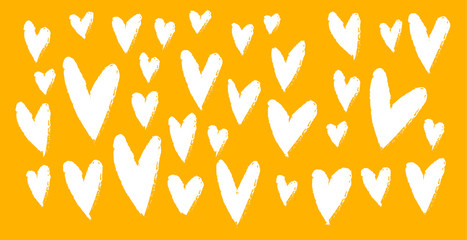 Illustrated header of hearts for Valentine's Day