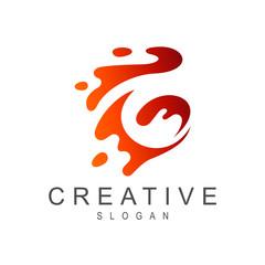 letter g water splash vector logo design