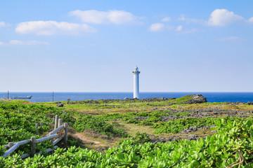 landscape of cape zanpa park in Okinawa