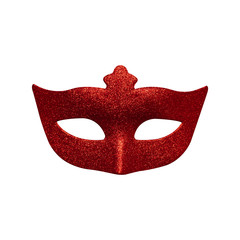 Red mask isolated on white background. Object with clipping path