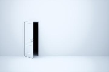 Opened dark way door