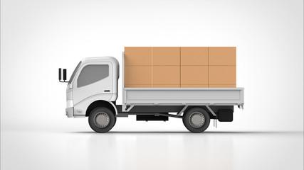 ダンプカーと荷物 側面