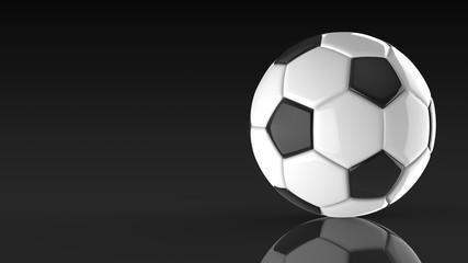 サッカーボール 黒背景 右