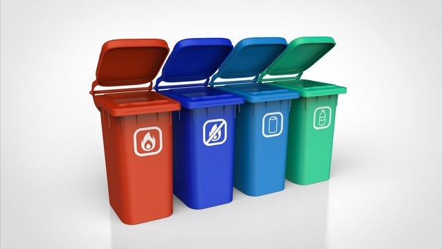 ゴミ箱 分別 オープン