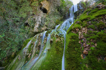 Waterfall in Orbaneja del Castillo, Spain