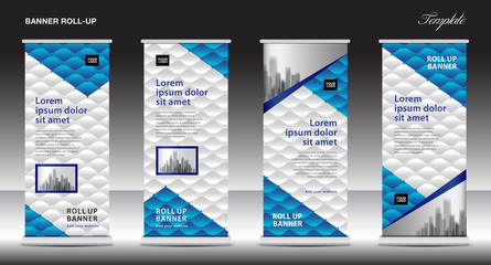Roll up stand design, Modern Exhibition, Banner template, x-banner, pull up, Advertising Trend, events, display, j-flag, business flyer layout, Creative concept, Stock vector, advertisement, Eps