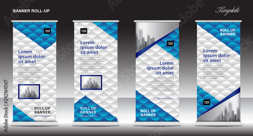 Exhibition Stand Design Free Software : Roll up stand design modern exhibition banner template banner