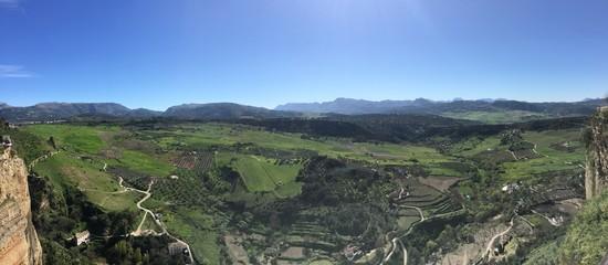 Spoed Foto op Canvas Khaki Nature landscape in Ronda, Spain