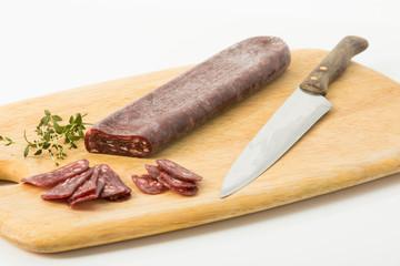 Salami aus Büffelfleisch, luftgetrocknet