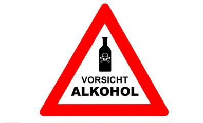 Alkohol Warnschild