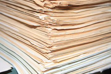 heap of old documents of role