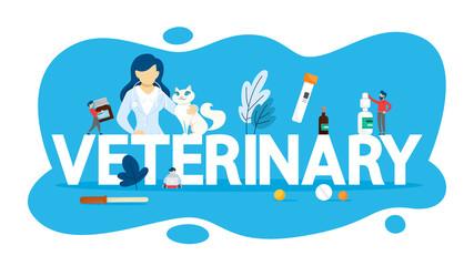 Veterinary concept. Idea of domestic animal care