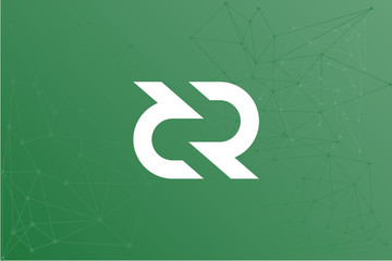 decred cryptocurrency vector symbol network illustration