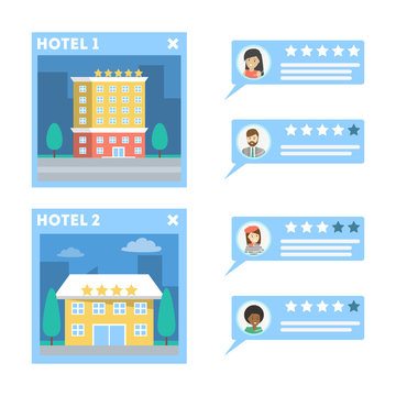 Online hotel booking with the customer review