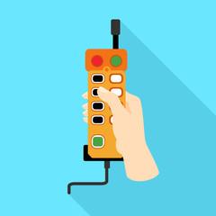 Lift remote control icon. Flat illustration of lift remote control vector icon for web design