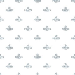 Pirate ship pattern vector seamless repeat for any web design