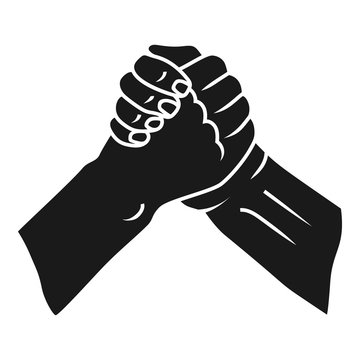 Brotherly handshake icon. Simple illustration of brotherly handshake vector icon for web design isolated on white background