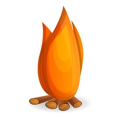 Bonfire icon. Cartoon of bonfire vector icon for web design isolated on white background