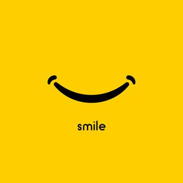 Smile icon vector graphic design symbol or logo