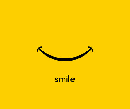 Smile icon vector graphic design symbol or logo
