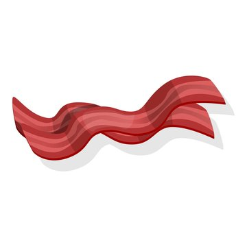 Burger bacon icon. Cartoon of burger bacon vector icon for web design isolated on white background