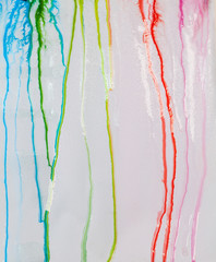 colorful color are dripping in water and blend together