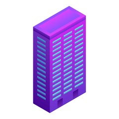 City smart building icon. Isometric of city smart building vector icon for web design isolated on white background