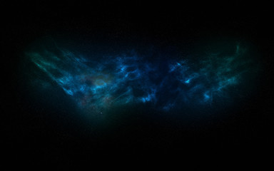 Abstract fanciful dark space, nebula starry night sky, galactic background.