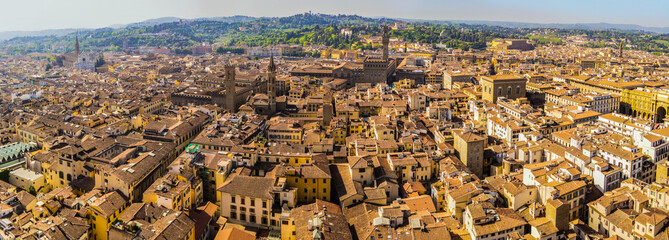 Panoramic view on the art city of Florence from the Dome of the Duomo, Tuscany - Italy Papier Peint