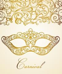 Mardi Gras carnival vector illustration