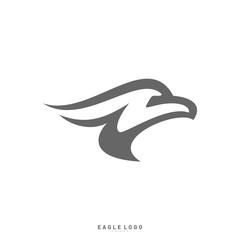 Eagle logo design template vector. Head Eagle concept icon