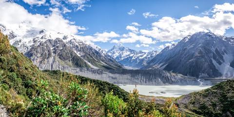 Sealy Tarns Track view, Aoraki, Mount Cook, New Zealand, NZ