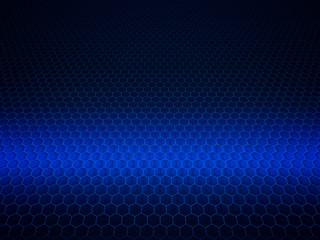 Abstract blue wire grid background