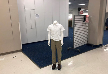 A mannequin is seen inside a Sears department store in Nanuet
