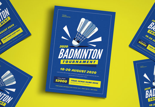 Badminton Flyer Layout