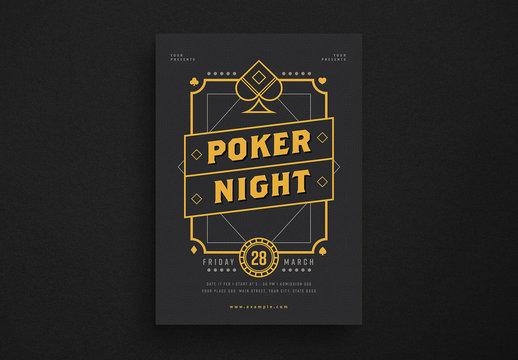 Poker Night Flyer Layout