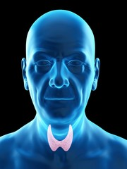 Illustration of an old man's thyroid gland