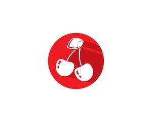 Cherry logo template vector icon illustration