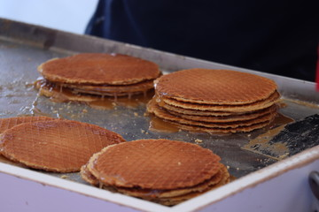 Traditional Dutch stroopwafels