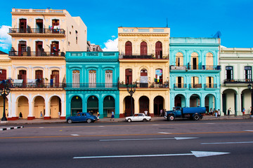 Foto op Canvas Havana Old Havana Cuba buildings architecture