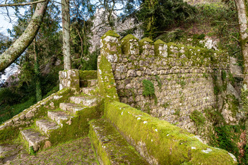 Castle Wall and Tower of the Moorish Castle in Sintra