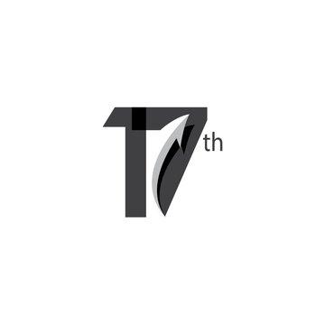 17 Year Anniversary Vector Template Design Illustration