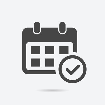 Event schedule icon flat style isolated on background. Event schedule sign symbol for web site and app design.