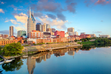 Photo sur cadre textile Amérique Centrale Nashville, Tennessee downtown skyline