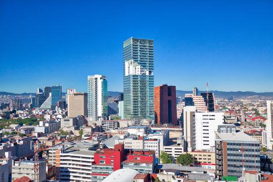 Mexico City Financial center district close to Paseo De Reforma