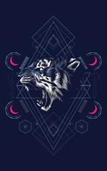 Wild Tiger sacred geometry
