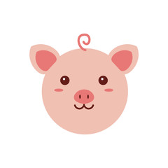 chinese happy new year sweet pig vector illustration design concept